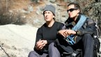 Miranda Hart and Bear Grylls