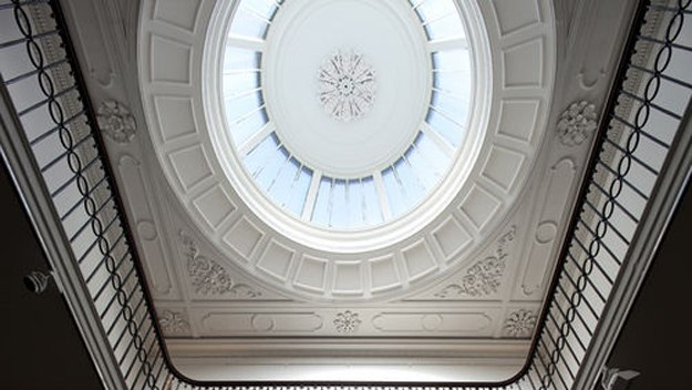The immaculately restored ceiling