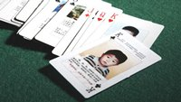 Playing cards with missing children on them
