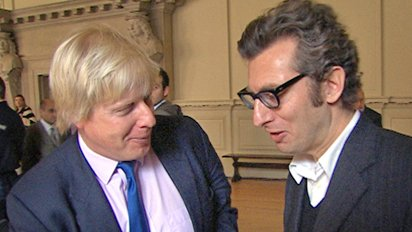 Boris Johnson with Antony Barnett