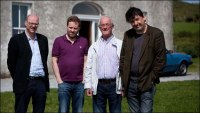 Arthur Mathews, Ardal O'Hanlon, Frank Kelly and Graham Linehan