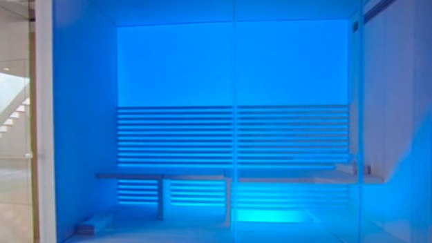 The spa in blue