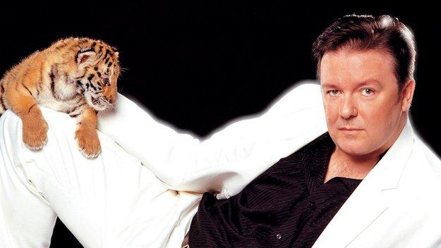 Ricky Gervais Posing