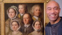Gus Casely-Hayford with Hogarth's Servants