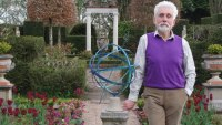 Sir Roy Strong in his garden