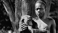 Ota Benga and a monkey