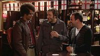 Moss and Roy meet one of the lads in the pub