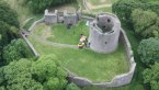 Ariel view of Dundram castle