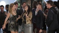 Betty parties with her friends in the final episode of Ugly Betty