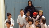 Ramita Navai with children in Afghanistan