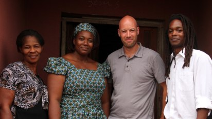 Seyi and producer Matt Haan with Therese Onuorah (left) and Rev-Oluchi (right)
