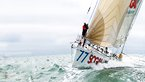 A yacht competing in the Vendee Globe