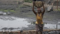 Indian man at coal mine