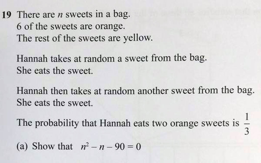 Edexcelmaths Can You Answer This Gcse Question
