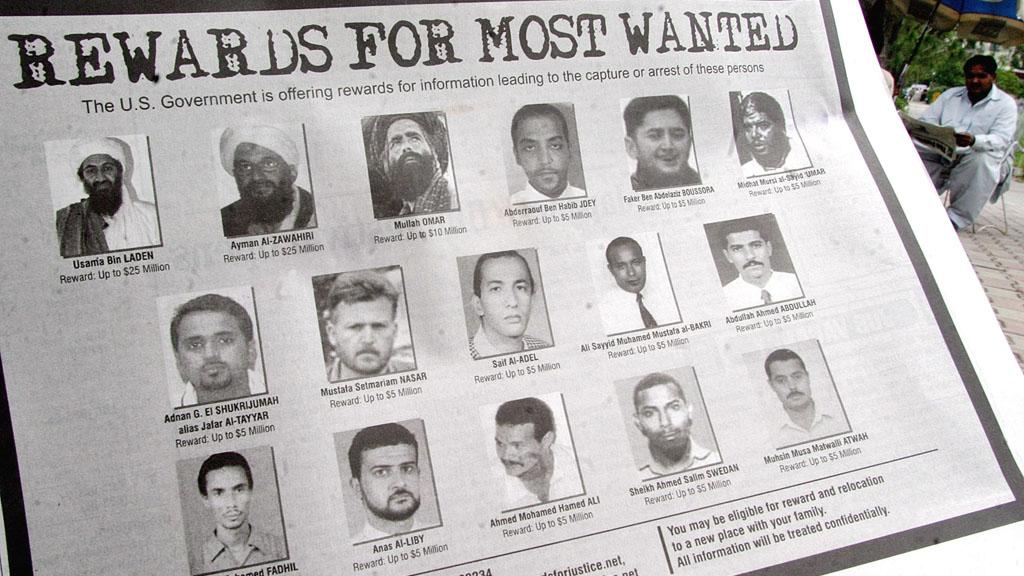 Rewards for al-Qaeda suspects (Reuters)