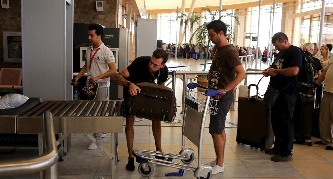 British tourists in Sharm-el Sheikh airport