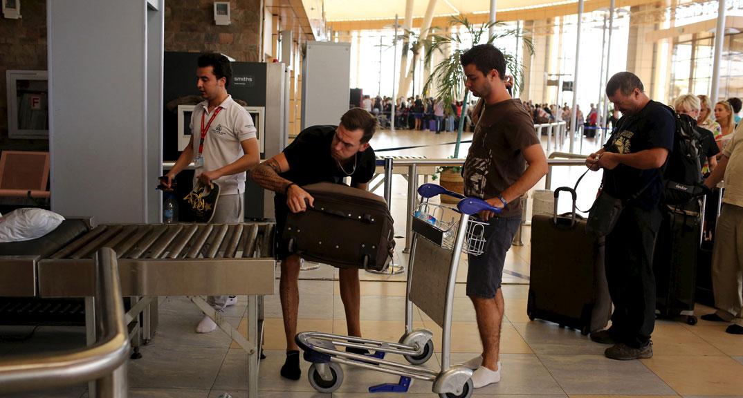 British tourists in Sharm-el Sheikh airport