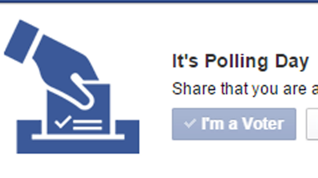 Facebook I'm voting graphic