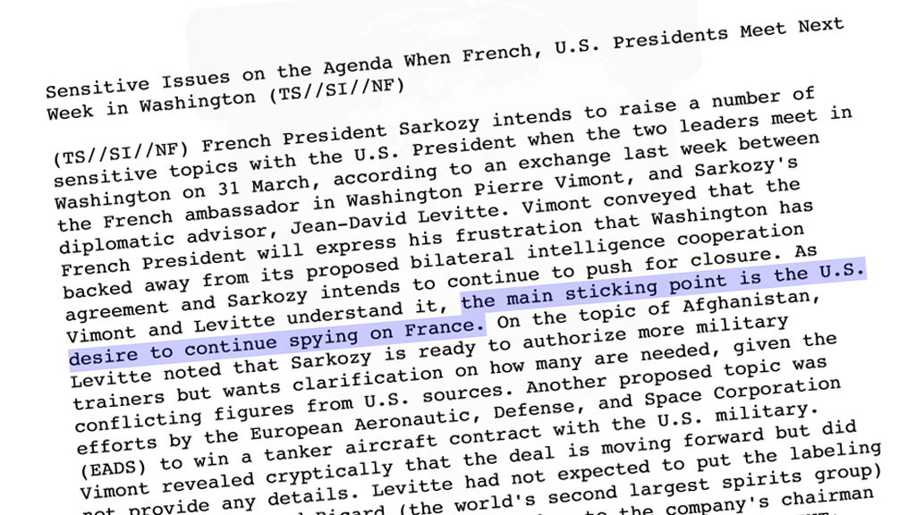 Extract from the document released by Wikileaks