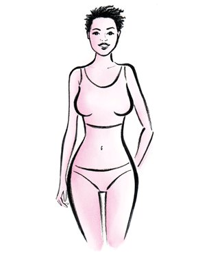 Illustration of an hourglass shape