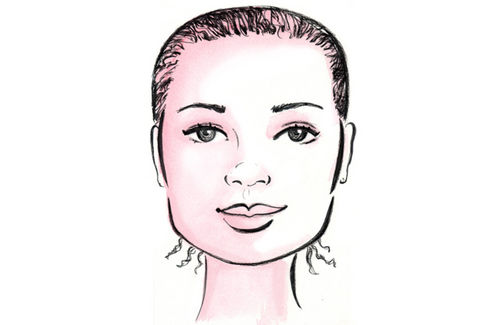 Square-shaped faces usually have wide foreheads, cheeks and jaw lines