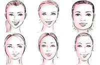 A montage of face shape illustrations