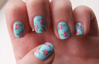 Floral nails, inspired by Cath Kidston