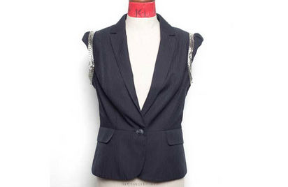 waistcoat with silver trims