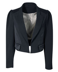 evans tailored cropped jacket
