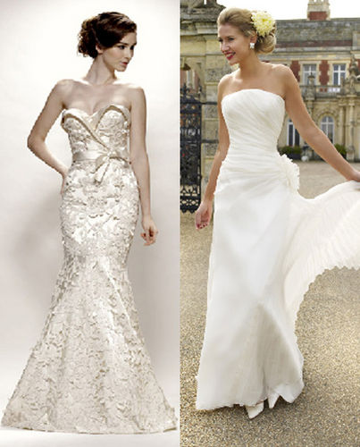 wedding dresses for an hourglass shape