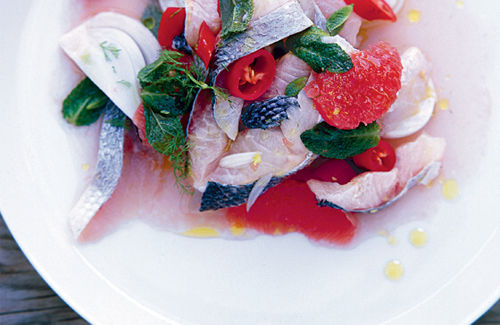 Jamie magazine: sea bass ceviche