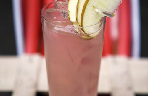 Rhubarb ginger apple cocktail recipe