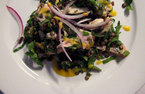 Hugh's grey mullet, puy lentil and parsley salad