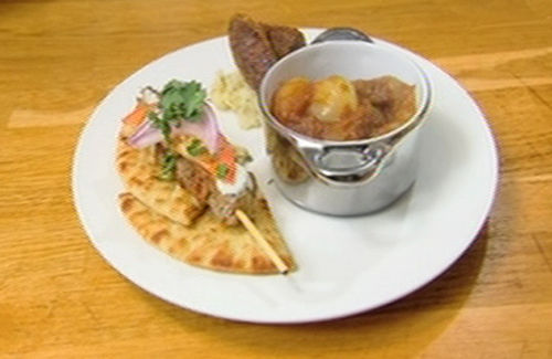 keftedes stifado and souvlaki recipe channel4 4food