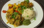 Lamb maharaja and aloo gobi recipe