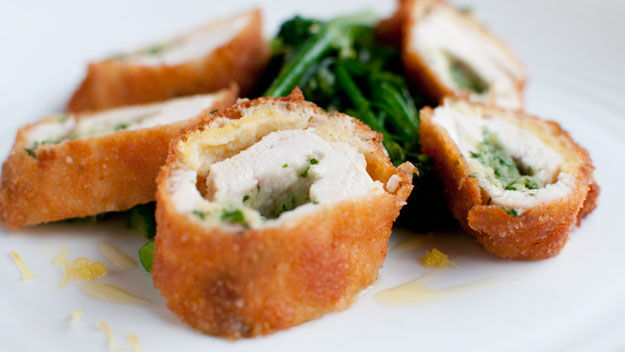 Chicken kiev with tenderstem broccoli recipe
