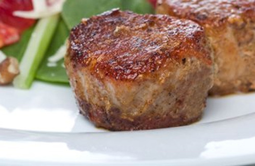 Medallions of pork with Stilton sauce recipe. medallion_of_pork