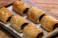 Black pudding sausage rolls