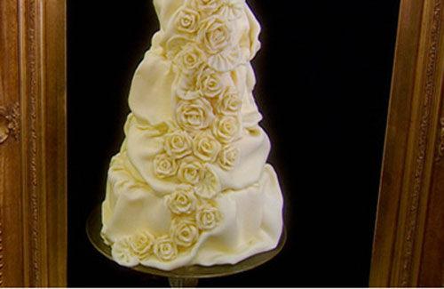 White chocolate roses wedding cake recipe