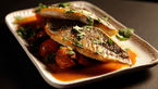 Sea bass with tomato and herb salsa