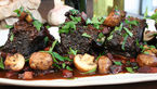 Slow cooked beef short ribs