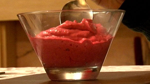 Raspberry ice cream