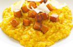 Goat's cheese and butternut squash risotto