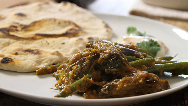 River Cottage Veg: Aubergine and green bean curry