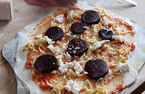 River Cottage: Beetroot pizza