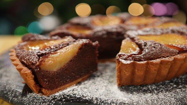 Chocolate and pear tart recipe