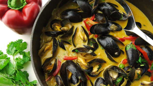 Curried mussels recipe