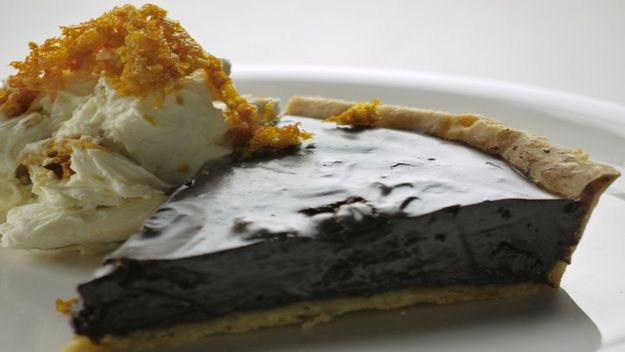 Chocolate prune tart