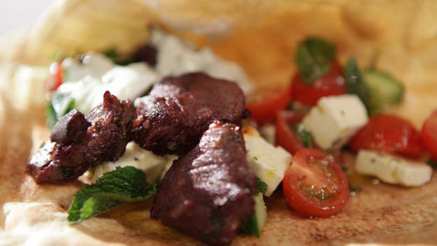 Lamb souvlaki recipe - Channel4 - 4Food