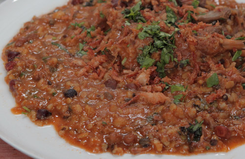 Spicy lamb, lentil and pearl barley stew recipe